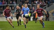 29 April 2017; Glenn O'Reilly of Dublin in action against Séan Kelly, left, and Liam Kelly of Galway during the EirGrid All-Ireland U21 Football Final match between Dublin and Galway at O'Connor Park in Tullamore, Dublin. Photo by Ray McManus/Sportsfile