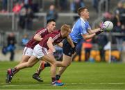 29 April 2017; Con O'Callaghan of Dublin in action against Liam Kelly and Paul Mannion of Galway, left, during the EirGrid All-Ireland U21 Football Final match between Dublin and Galway at O'Connor Park in Tullamore, Dublin. Photo by Ray McManus/Sportsfile