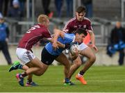29 April 2017; Colm Basquel of Dublin in action against Liam Kelly and Cillian McDaid of Galway during the EirGrid All-Ireland U21 Football Final match between Dublin and Galway at O'Connor Park in Tullamore, Dublin. Photo by Ray McManus/Sportsfile
