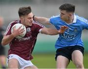29 April 2017; Cillian McDaid of Galway in action against Cillian O'Shea of Dublin during the EirGrid All-Ireland U21 Football Final match between Dublin and Galway at O'Connor Park in Tullamore, Dublin. Photo by Ray Ryan/Sportsfile