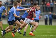 29 April 2017; Cillian McDaid races past Cillian O'Shea and Dan O'Brien of Dublin on his way to scoring a goal for Galway during the EirGrid All-Ireland U21 Football Final match between Dublin and Galway at O'Connor Park in Tullamore, Dublin. Photo by Ray McManus/Sportsfile