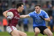 29 April 2017; Eoin Finnerty of Galway in action against Cillian O'Shea of Dublin during the EirGrid All-Ireland U21 Football Final match between Dublin and Galway at O'Connor Park in Tullamore, Dublin. Photo by Ray McManus/Sportsfile