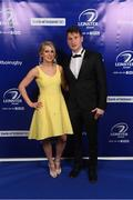 29 April 2017; On arrival at the Leinster Rugby Awards Ball were Leinster's Fearghal Kerin with Muireann Kelleher. The Awards, MC'd by Darragh Maloney, were a celebration of the 2016/17 Leinster Rugby season to date and over the course of the evening Leinster Rugby acknowledged the contributions of retirees Mike Ross, Eóin Reddan and Luke Fitzgerald as well as presenting Leinster Rugby caps to departees Bill Dardis, Hayden Triggs, Mike McCarthy, Zane Kirchner and Dominic Ryan. Former Leinster Rugby team doctor Professor Arthur Tanner was posthumously inducted into the Guinness Hall of Fame. Some of the Award winners on the night included; Gonzaga College (Deep River Rock School of the Year), David Hicks, De La Salle Palmerston (Beauchamps Contribution to Leinster Rugby Award), Clontarf FC (CityJet Senior Club of the Year), Coláiste Chill Mhantáin (Irish Independent Development School of the Year Award), Athy RFC (Bank of Ireland Junior Club of the Year). Clayton Hotel, Burlington Road, Dublin 4. Photo by Stephen McCarthy/Sportsfile