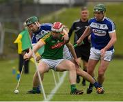 30 April 2017; Cormac Reilly of Meath in action against Paddy Whelan, 13, and Willie Dunphy of Laois of during the Leinster GAA Hurling Senior Championship Qualifier Group Round 2 match between Meath and Laois at Pairc Tailteann in Meath. Photo by Ray McManus/Sportsfile
