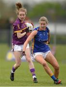 30 April 2017; Niamh Butler of Wexford in action against Jennifer Grant of Tipperary during the Lidl Ladies Football National League Div 3 Final match between Tipperary and Wexford at the Clane Grounds in Kildare.  Photo by Piaras Ó Mídheach/Sportsfile
