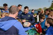 1 May 2017; Leinster's Cian Healy signs autographs for supporters during an open squad training session at the RDS Arena, Ballsbridge, Dublin. Photo by Piaras Ó Mídheach/Sportsfile
