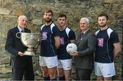 2 May 2017; Attendees, from left, Denis O'Callaghan, Head of Retail Banking, AIB, Mayo's Aidan O'Shea, Donegal's Paddy McBrearty, Uachtarán Chumann Lúthchleas Gael Aogán Ó Fearghail and Jack McCaffrey pictured at AIB's 'Club Fuels County' launch of the GAA All-Ireland Football Championship. AIB is proud to be a partner of the GAA for 25 years and backing both Club and County for a third consecutive year. For exclusive content and behind the scenes action throughout the season follow on Twitter, Instagram, Snapchat, Facebook and AIB.ie/GAA. Photo by Ray McManus/Sportsfile