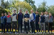 3 May 2017; In attendance at the Leinster GAA Senior Hurling and Football Championships 2017 Launch are footballers, from left, Stephen Kelly of Wicklow, Stephen Attride of Laois, Padraig Rath of Louth, Kevin Feely of Kildare, Daithi Waters of Wexford, Ciaran Kilkenny of Dublin, Paddy Collum of Longford, Graham Reilly of Meath, Sean Pender of Offaly, Daragh Foley of Carlow and Ger Egan of Westmeath. Pearse Museum, Dublin. Photo by Sam Barnes/Sportsfile
