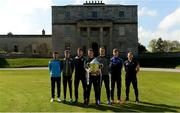 3 May 2017; In attendance at the Leinster GAA Senior Hurling and Football Championships 2017 Launch are hurlers, from left, Niall McMorrow of Dublin, Jordan Conway of Kerry, Pádraic Mannion of Galway, Mark Bergin of Kilkenny, Matthew O'Hanlon of Wexford, Ross King of Laois, and Seán Ryan of Offaly. Pearse Museum, Dublin.  Photo by Piaras Ó Mídheach/Sportsfile