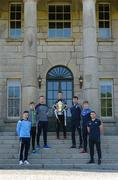 3 May 2017; In attendance at the Leinster GAA Senior Hurling and Football Championships 2017 Launch are hurlers, from left, Niall McMorrow of Dublin, Jordan Conway of Kerry, Matthew O'Hanlon of Wexford, Mark Bergin of Kilkenny, Pádraic Mannion of Galway, Ross King of Laois, and Seán Ryan of Offaly. Pearse Museum, Dublin.  Photo by Piaras Ó Mídheach/Sportsfile