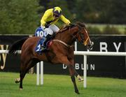3 September 2011; Rock And Roll Kid, with Danny Mullins up, on the way to winning The Leopardstown.com Handicap. Horse Racing at Leopardstown, Leopardstown Race Course, Dublin. Picture credit: Ray McManus / SPORTSFILE