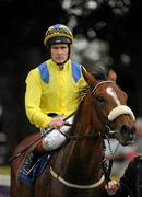 3 September 2011; Galileo's Choice, with Pat Smullen up, makes his way back to the parade ring after winning The Kilternan Stakes. Horse Racing at Leopardstown, Leopardstown Race Course, Dublin. Picture credit: Ray McManus / SPORTSFILE