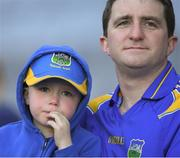 8 April 2017; Tipperary supporters watch the closing moments of the Allianz Football League Division 3 Final match between Louth and Tipperary at Croke Park in Dublin. Photo by Brendan Moran/Sportsfile