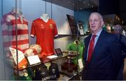 "4 May 2017; Former Cork player and manager Conor Counihan during the official opening of the GAA Museum ""Imreoir to Bainisteoir"" exhibition launch at the GAA Museum in Croke Park, Dublin. Photo by Matt Browne/Sportsfile"