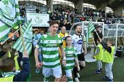 5 May 2017; Ronan Finn captain of Shamrock Rovers leads out his team-mates against his former club Dundalk before the SSE Airtricity League Premier Division game between Shamrock Rovers and Dundalk at Tallaght Stadium in Dublin. Photo by Matt Browne/Sportsfile