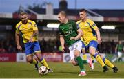 5 May 2017; Stephen Dooley of Cork City in action against Damien McNulty, left, and Killian Cantwell of Finn Harps during the SSE Airtricity League Premier Division game between Cork City and Finn Harps at Turners Cross in Cork. Photo by Brendan Moran/Sportsfile