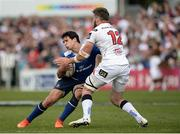 6 May 2017; Joey Carbery of Leinster is tackled by Stuart McCloskey of Ulster during the Guinness PRO12 Round 22 match between Ulster and Leinster at Kingspan Stadium in Belfast. Photo by Oliver McVeigh/Sportsfile
