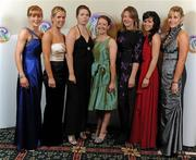 5 November 2011; Waterford 2011 Camogie Soaring Stars recipients, from left, Gráinne Kenneally, Karen Kelly, Jennie Simpson, Emma Hannon, Patricia Jackman, Nicola Morrissey and Aisling O'Brien at the 2011 Camogie All-Stars in association with O'Neills. Citywest Hotel, Saggart, Co. Dublin. Picture credit: Stephen McCarthy / SPORTSFILE
