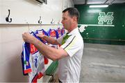 7 May 2017; New York GAA official Denis O'Sullivan, originally from Bantry, Co Cork, prepares the New York changing room prior to the Connacht GAA Football Senior Championship Preliminary Round match between New York and Sligo at Gaelic Park in the Bronx borough of New York City, USA. Photo by Stephen McCarthy/Sportsfile