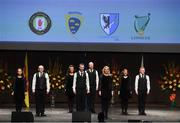 6 May 2017: The winning Omagh St Enda's, Co Tyrone, team of David Tierney, Damien Friel, Paul Breen, Ciarán Breen, Leanne McCullagh, Michelle Mullin, Courtney McAskie and Grainne Fox competing in the 'Rice Seit' event in the All-Ireland Scór Sinsear Finals at The Waterfront Theatre, Belfast. Photo by Ray McManus/Sportsfile