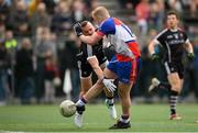 7 May 2017; Shane O'Connor of New York in action against Eóin McHugh of Sligo during the Connacht GAA Football Senior Championship Preliminary Round match between New York and Sligo at Gaelic Park in the Bronx borough of New York City, USA. Photo by Stephen McCarthy/Sportsfile