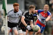 7 May 2017; Keelan Cawley of Sligo in action against Shane O'Connor of New York during the Connacht GAA Football Senior Championship Preliminary Round match between New York and Sligo at Gaelic Park in the Bronx borough of New York City, USA. Photo by Stephen McCarthy/Sportsfile
