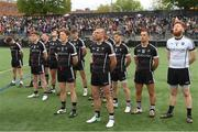 7 May 2017; The Sligo team during the national anthem during the Connacht GAA Football Senior Championship Preliminary Round match between New York and Sligo at Gaelic Park in the Bronx borough of New York City, USA. Photo by Stephen McCarthy/Sportsfile