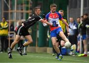 7 May 2017; Brian Gallagher of New York in action against Adrian McIntyre of Sligo during the Connacht GAA Football Senior Championship Preliminary Round match between New York and Sligo at Gaelic Park in the Bronx borough of New York City, USA. Photo by Stephen McCarthy/Sportsfile