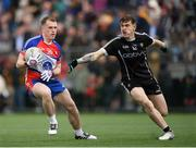 7 May 2017; Eóin Flanagan of New York in action against Kyle Cawley of Sligo during the Connacht GAA Football Senior Championship Preliminary Round match between New York and Sligo at Gaelic Park in the Bronx borough of New York City, USA. Photo by Stephen McCarthy/Sportsfile