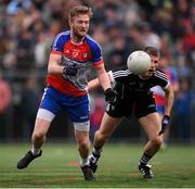 7 May 2017; Kyle Cawley of Sligo in action against Shane Hogan of New York during the Connacht GAA Football Senior Championship Preliminary Round match between New York and Sligo at Gaelic Park in the Bronx borough of New York City, USA. Photo by Stephen McCarthy/Sportsfile
