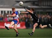 7 May 2017; Daniel McKenna of New York in action against Charlie Harrison of Sligo during the Connacht GAA Football Senior Championship Preliminary Round match between New York and Sligo at Gaelic Park in the Bronx borough of New York City, USA. Photo by Stephen McCarthy/Sportsfile