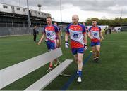 7 May 2017; New York players, from left, Shane Hogan, Tom Cunniffe and Daniel McKenna prepare to have their team photograph taken before the Connacht GAA Football Senior Championship Preliminary Round match between New York and Sligo at Gaelic Park in the Bronx borough of New York City, USA. Photo by Stephen McCarthy/Sportsfile