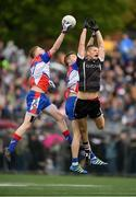 7 May 2017; Adrian McIntyre of Sligo in action against Patrick Boyle, left, and Brian Gallagher of New York during the Connacht GAA Football Senior Championship Preliminary Round match between New York and Sligo at Gaelic Park in the Bronx borough of New York City, USA. Photo by Stephen McCarthy/Sportsfile