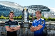 8 May 2017; Rhys Webb of Ospreys, left, Isa Nacewa of Leinster in attendance at a Guinness PRO12 Semi-Final Press Event on Bath Avenue in Dublin. Photo by Piaras Ó Mídheach/Sportsfile