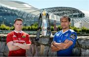 8 May 2017; Rory Scannell of Munster, left, and Isa Nacewa of Leinster in attendance at a Guinness PRO12 Semi-Final Press Event on Bath Avenue in Dublin. Photo by Piaras Ó Mídheach/Sportsfile