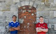 8 May 2017; Isa Nacewa of Leinster, left, and Rory Scannell of Munster in attendance at a Guinness PRO12 Semi-Final Press Event on Bath Avenue in Dublin. Photo by Piaras Ó Mídheach/Sportsfile
