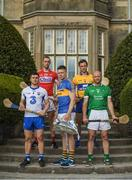 8 May 2017; In attendance at the Munster GAA Senior Football & Hurling Championships 2017 launch at Muckross House in Killarney, Co. Kerry, from left, Jamie Barron of Waterford, Stephen McDonnell of Cork, Padraic Maher of Tipperary, Pat O'Donnell of Clare and James Ryan of Limerick. Photo by Brendan Moran/Sportsfile
