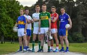 8 May 2017; In attendance at the Munster GAA Senior Football & Hurling Championships 2017 launch at Muckross House in Killarney, Co. Kerry, from left, Brian Fox of Tipperary, Paul Whyte of Waterford, Donal O'Sullivan of Limerick, Johnny Buckley of Kerry, Mark Collins of Cork and Eóin Cleary of Clare. Photo by Brendan Moran/Sportsfile