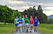 8 May 2017; In attendance at the Munster GAA Senior Football & Hurling Championships 2017 launch at Muckross House in Killarney, Co. Kerry, from left, Paul Whyte of Waterford, Brian Fox of Tipperary, Donal O'Sullivan of Limerick, Johnny Buckley of Kerry, Mark Collins of Cork and Eóin Cleary of Clare. Photo by Brendan Moran/Sportsfile