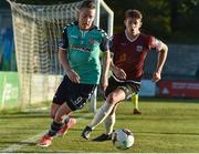 8 May 2017; Ronan Curtis of Derry City in action against Lee Grace of Galway United during the SSE Airtricity League Premier Division match between Galway United and Derry City FC at Eamonn Deacy Park in Galway. Photo by David Maher/Sportsfile