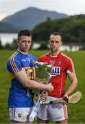 8 May 2017; Padraic Maher, left, of Tipperary and Stephen McDonnell of Cork in attendance during the Munster GAA Senior Football & Hurling Championships 2017 launch at Muckross House in Killarney, Co. Kerry. Photo by Brendan Moran/Sportsfile