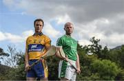 8 May 2017; Pat O'Donnell, left, of Clare and James Ryan of Limerick during the Munster GAA Senior Football & Hurling Championships 2017 launch at Muckross House in Killarney, Co. Kerry. Photo by Brendan Moran/Sportsfile