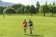 8 May 2017; Mark Collins, left, of Cork and Johnny Buckley of Kerry during the Munster GAA Senior Football & Hurling Championships 2017 launch at Muckross House in Killarney, Co. Kerry. Photo by Brendan Moran/Sportsfile