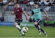 8 May 2017; Ronan Murray of Galway United in action against Ben Doherty of Derry City FC during the SSE Airtricity League Premier Division match between Galway and Derry City FC at Eamonn Deacy Park in Galway. Photo by David Maher/Sportsfile