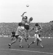 16 September 1979; Eoin Liston, Kerry, in action against Mick Holden, Dublin. All-Ireland Football Final, Kerry v Dublin, Croke Park, Dublin. Picture credit: SPORTSFILE / Connolly Collection