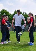 9 May 2017; Shamrock Rovers player Paul Corry was in Bluebell Community Centre today at the AIG Heroes event along with pupils from St Ultans School in Cherry Orchard, Dublin. The AIG Heroes initiative is part of the insurance company's community engagement programme and is designed to give support to local communities by leveraging their sporting sponsorships to provide positive role models and build confidence for young people. More information at www.aig.ie.  Bluebell Community College, Bluebell, Dublin. Photo by Sam Barnes/Sportsfile