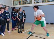 9 May 2017; Irish rugby international, former Irish soccer international and Dublin footballer Lindsay Peat was in Bluebell Community Centre today at the AIG Heroes event along with pupils from Our Lady of the Way Side School in Bluebell, Dublin. The AIG Heroes initiative is part of the insurance company's community engagement programme and is designed to give support to local communities by leveraging their sporting sponsorships to provide positive role models and build confidence for young people. More information at www.aig.ie.  Bluebell Community College, Bluebell, Dublin. Photo by Sam Barnes/Sportsfile