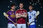 10 May 2017; Bord Gáis Energy today launched its new #HurlingToTheCore campaign at Croke Park to mark the beginning of a summer of hurling.  #HurlingToTheCore celebrates Bord Gáis Energy's belief that hurling is more than a sport or pastime - it is deeply ingrained in Irish history and stitched into our national identity. In attendance at the Bord Gáis Energy Summer of Hurling Launch are, from left, Conor McDonald of Wexford, Joe Canning of Galway and Patrick Curran of Waterford. Croke Park in Dublin. Photo by Sam Barnes/Sportsfile