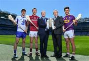 10 May 2017; Bord Gáis Energy today launched its new #HurlingToTheCore campaign at Croke Park to mark the beginning of a summer of hurling.  #HurlingToTheCore celebrates Bord Gáis Energy's belief that hurling is more than a sport or pastime - it is deeply ingrained in Irish history and stitched into our national identity.  In attendance at the Bord Gáis Energy Summer of Hurling Launch is GAA Director General, Páraic Duffy, right of centre, with from left, Patrick Curran of Waterford, Joe Canning of Galway, Dave Kirwan, Managing Director, Bord Gáis Energy and Conor McDonald of Wexford. Croke Park in Dublin. Photo by Sam Barnes/Sportsfile