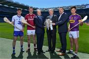 10 May 2017; Bord Gáis Energy today launched its new #HurlingToTheCore campaign at Croke Park to mark the beginning of a summer of hurling.  #HurlingToTheCore celebrates Bord Gáis Energy's belief that hurling is more than a sport or pastime - it is deeply ingrained in Irish history and stitched into our national identity. In attendance at the Bord Gáis Energy Summer of Hurling Launch is GAA Director General, Páraic Duffy, centre right, with from left, Patrick Curran of Waterford, Joe Canning of Galway, Dave Kirwan, Managing Director, Bord Gáis Energy, Mark Prentice, Head of Retail, Bord Gáis Energy, and Conor McDonald of Wexford. Croke Park in Dublin. Photo by Sam Barnes/Sportsfile